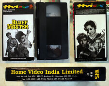 VHS: Bluff Master: Hindi rare tape Home Video India Limited bollywood