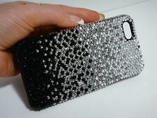 Faded Black Bling Swarovski Elements Crystals Hard Case Cover Skin iPhone 7 Plus