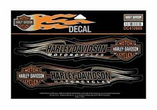 Harley Davidson  B&S Flames X-Large Decal