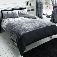 NEW YORK CITY BLACK KING SIZE DUVET COVER NEW BEDDING