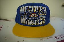 Authentic Denver Nuggets Snapback Cap by Mitchell and Ness- Blue/Yellow New