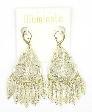 New Gold Tone Filigree Dangle Earrings by Illuminata NWT #E1246
