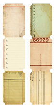 Kaisercraft Journal Tickets - Pk of 6 - Scrapbooking ephemera - Pack of 6