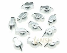 12pcs Brass Insert Guitar Chicken Head Knob AMP Effect pointer Knob Silver