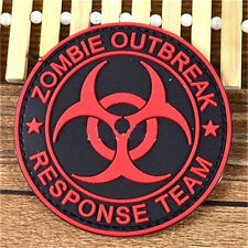 FD3285 Zombie Outbreak Response Team 3D Rubber Red Badge Tactical Morale Velcro♫
