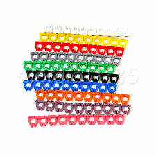 100pcs Multicolor Number Mark for Ethernet RJ45 12 11 Wire & Power Cable