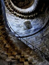 STONE STAIR CASE SPIRAL CASTLE PHOTO ART PRINT POSTER PICTURE BMP119A