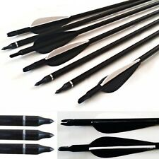 "10 Fibreglass  Archery Arrows 28"" Field Tip  Field & Target broadhead compatible"