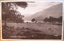 Irish Postcard EVENTIDE AT GLENDALOUGH Upper Lake Wicklow Ireland Val. Carbotone