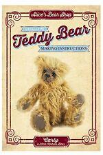 Teddy Bear rendendo Pattern & a5 libretto di istruzioni-Carly 25cm quando MADE