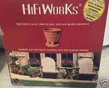 HiFi Works Outdoor Planter Flower Pot Speaker ~ New in Box!