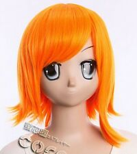W-271 ONE PIECE NAMI COSPLAY Perücke ANIME MANGA Wig hitzefest orange 35cm