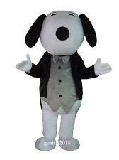 Gentleman Snoopy Mascot Costume Adult Cartoon Costume Party Fancy Dress Outfit