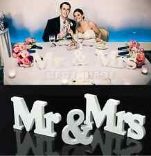 Wedding Reception Sign Solid Wooden Letter Mr & Mrs Table Centrepiece Decor 3D