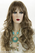 Glamorous and Feminine 26in Long Blonde Brunette Red Straight Wavy Skin Top Wigs