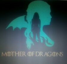 Game of thrones khaleesi mother of dragons vinyl decal wall car sticker stark