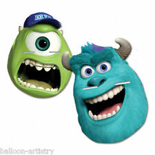 4 Disney Pixar Monsters Inc University Birthday Party Paper Card Face Masks