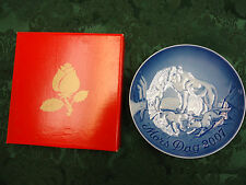 """2007 Bing & Grondahl Mother's Day Plate """"Artic Wolf & Cubs"""""""