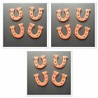 12 EDIBLE CAKE TOPPERS CUPCAKE DECORATIONS SUGARCRAFT ANIMAL HORSE SHOES