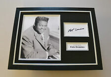 Fats Domino Signed Framed 16x12 Photo Autograph Music Memorabilia Display + COA