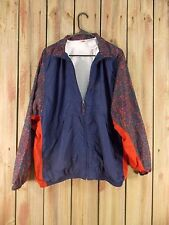 Vintage NIKE Jacket Windbreaker Navy Blue Red Nylon Women's Size XL 16