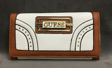 NEW GUESS WHITE MADERA SLIM TRIFOLD CLUTCH WALLET