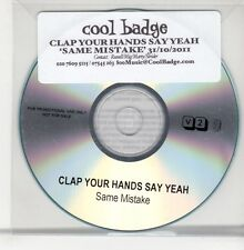 (GO829) Clap Your Hands Say Yeah, Same Mistake - 2011 DJ CD
