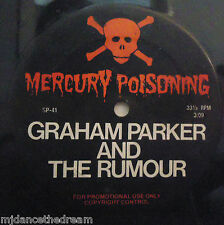 "GRAHAM PARKER & THE RUMOUR ~ Mercury Poisoning ~ 12"" Single 1 SIDED PROMO"
