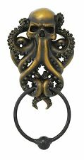 Decorative Octopus Skull Monster Resin Door Knocker with Cast Iron Knocker Wall