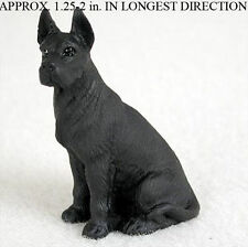 Great Dane Mini Resin Dog Figurine Statue Hand Painted Black
