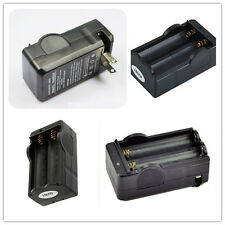 Smart Travel Dual Charger For 3.6V 3.7V 18650 Battery Cell Pack Black US Plug