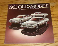 Original 1981 Oldsmobile Cutlass Cruiser Omega Deluxe Sales Brochure 81
