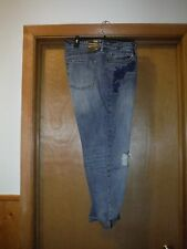 Gap Women's Jean Pants size 14/32 R Blue Navy Embroidery Floral NWT