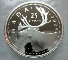 2009 CANADA 25 CENTS PROOF SILVER QUARTER COIN - A