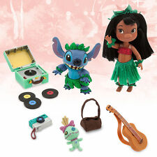 "Disney Store Lilo & Stitch Animator 5"" Toddler Doll Box Play Set Figures NEW"