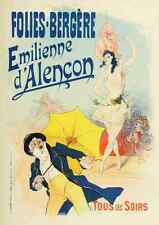 A4 photo CHERET, Jules les affiches illustrees 1896, Emilienne dalencon imprimer po