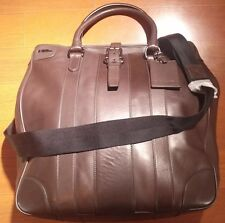 $1200 Polo Ralph Lauren Tote Leather Italy Hand or Shoulder Messenger Bag New