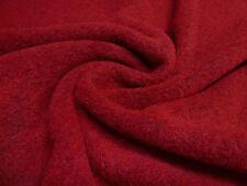 ☻ Stoff Stoffe Ital. gekochte Wolle Walkloden uni blutrot rot ☻