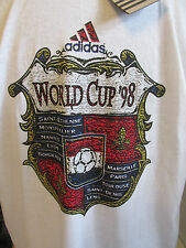 NWT VINTAGE ADIDAS FRANCE WORLD CUP T SHIRT 1998 SIZE LARGE