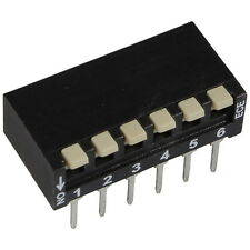 2 ECE EPH-106-LZ DIP-Schalter 6-polig Piano 24V DC 25mA DIL Switch RM2,54 855924