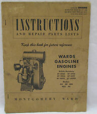 Wards Gasoline Engines Instructions and Repair Parts Lists Manual