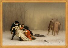 The Duel After the Masquerade Jean-Leon Gerome Degen Fechten Kostüme B A1 02533