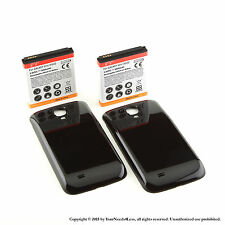 2 x 5600mAh Extended Battery for Samsung Galaxy S 4 IV i9500 Black Cover