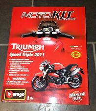 GENUINE TRIUMPH SPEED TRIPLE 1050 MODEL KIT 1:18 BOXED IN RED - GREAT GIFT IDEA