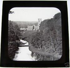 Magic Lantern Slide FOUNTAINS ABBEY C1910 NORTH YORKSHIRE