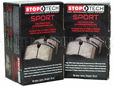 Stoptech Sport Brake Pads (Front & Rear Set) for 03-06 Lancer EVO 8 w/Brembo