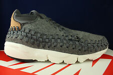 NIKE AIR FOOTSCAPE WOVEN CHUKKA DARK GREY SAIL VACHETTA TAN 857874 002 SZ 10.5
