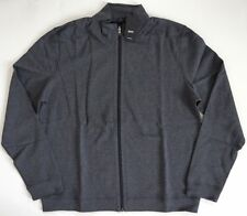 "NWT HUGO BOSS ""CANNOBIO"" Dark Gray Reversible Sweatshirt Sweater Jacket XXL/2XL"