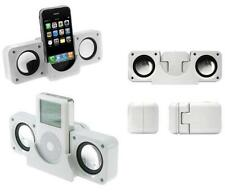 PORTABLE FOLDABLE SPEAKERS FOR IPOD IPHONE MP3 MOBILE PHONE - WHITE