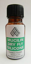 Mucilin Green Liquid Silicone Dry Fly Floatant Bottle with Brush